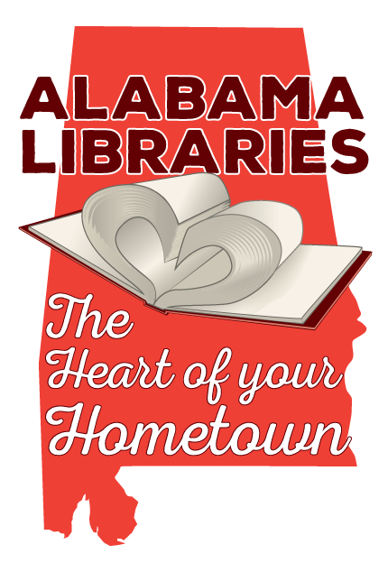 2019 ALLA Annual Convention Logo: Alabama Libraries The Heart of Your Hometown