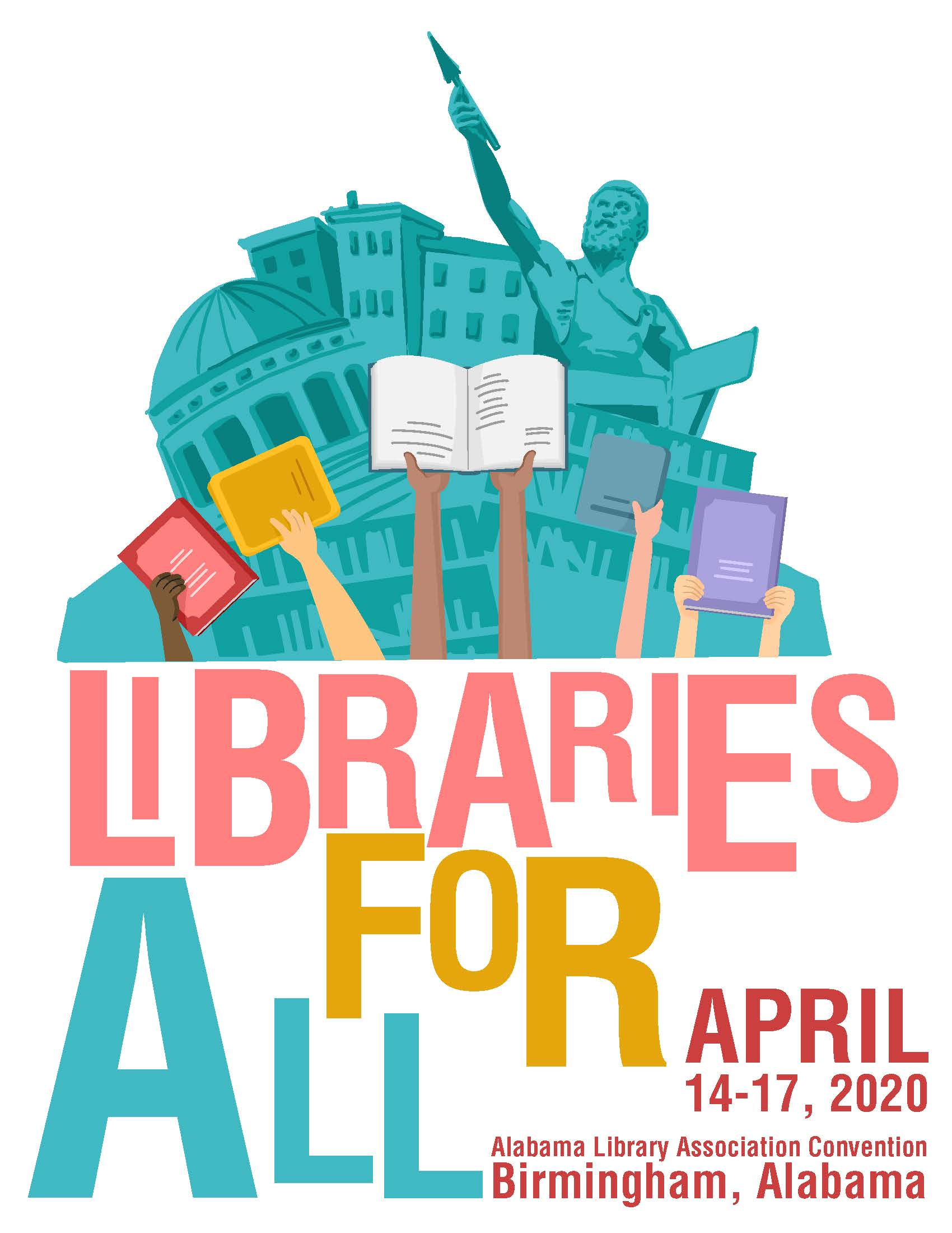 2020 ALLA Annual Convention Logo: Libraries For All